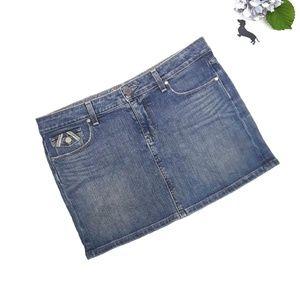 Paige Fairfax denim mini skirt. Size 30.